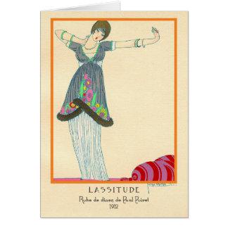 Lasitud de la moda del art déco del vintage de tarjeta de felicitación
