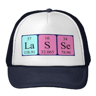 Lasse periodic table name hat