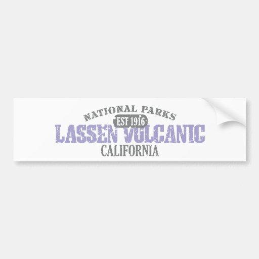 Lassen Volcanic National Park Car Bumper Sticker