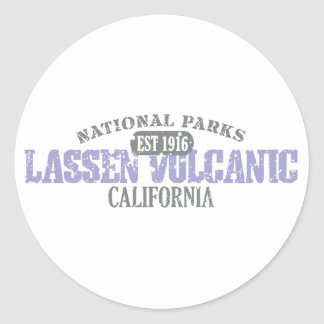 Lassen Volcanic National Park Round Stickers