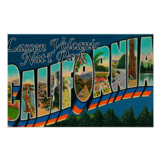 Lassen Volcanic Nat'l Park, CA Poster