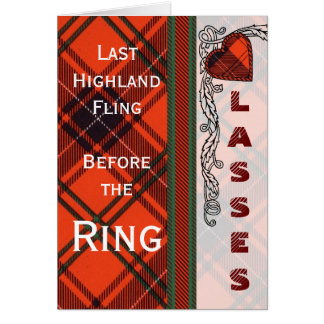 Lasses Batchelorette Party Wemyss Scottish Tartan Card