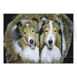 """""""Lassie and Lad"""" Greeting Card"""