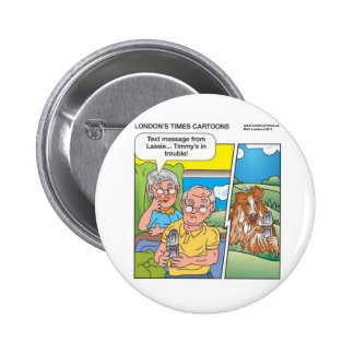 Lassie Text Home Funny Gifts Tees Mugs Etc 2 Inch Round Button