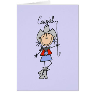 Lasso Cowgirl T-shirts and Gifts Greeting Card