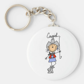 Lasso Cowgirl T-shirts and Gifts Keychain