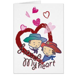 Lasso My Heart Cowpokes Rose & Rusty Card