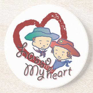 Lasso My Heart Cowpokes Rose & Rusty Coaster