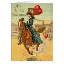 Lasso my heart Vintage Valentine Card