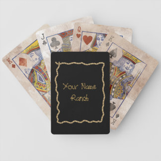 Lasso Rope Frame - Funny Cute Western Bicycle Playing Cards