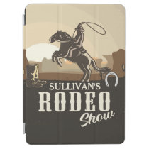 Lasso Roping Roundup ADD NAME Western Rodeo Show iPad Air Cover