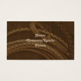 Lasso Western Business Card