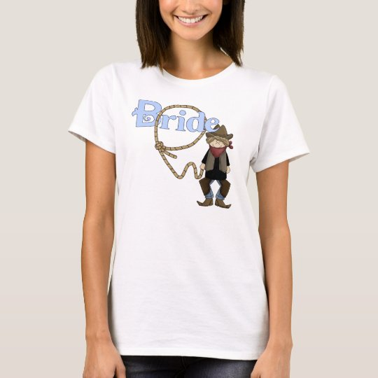 Lassoed Bride Country Western Wedding tshirt
