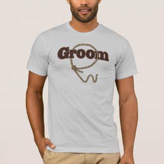 Lassoed Groom Country Western Wedding tshirt
