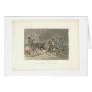 Lassoing un oso (1178A) Tarjeta De Felicitación