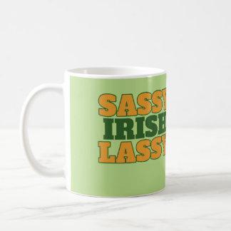 Lassy irlandés descarado taza de café