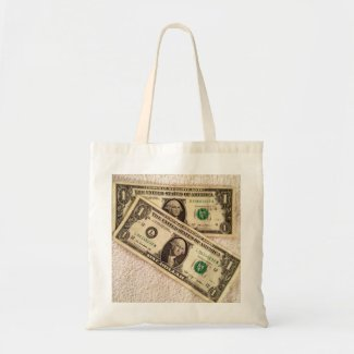 Last 2 Dollars Tote Bag