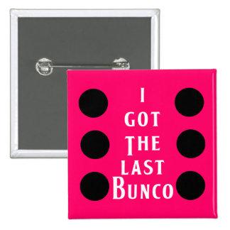 Last Bunco Dot Design 2 Inch Square Button