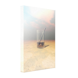 Last Call Stretched Canvas Print