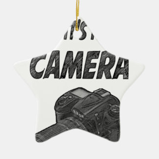 Last camera ceramic ornament