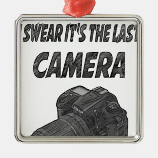 Last camera metal ornament