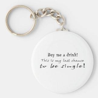 last chance basic round button keychain