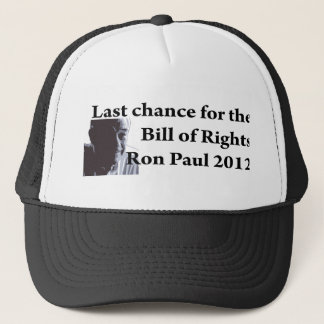 Last chance for the bill of rights trucker hat