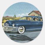 Last Chance Gas, Vintage Transportation Car Classic Round Sticker