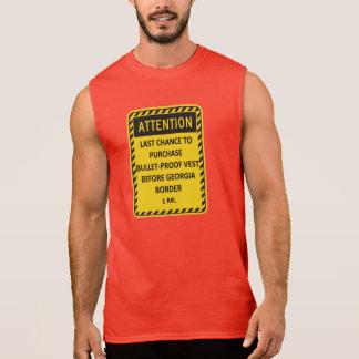 Last chance to buy bullet-proof vest before GA! Sleeveless Shirt