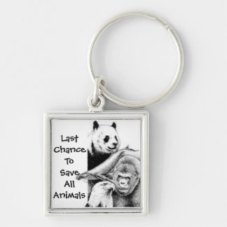last chance to save all animals keychain
