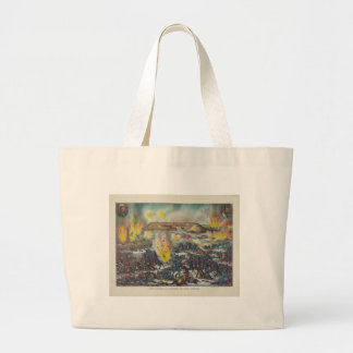 Last Charge and Capture of Port Arthur Large Tote Bag
