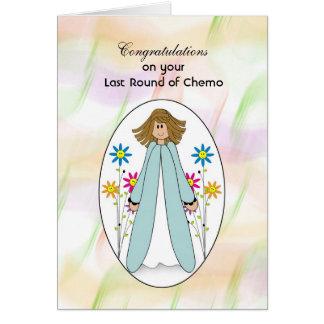Last Chemo Treatment, Girl Flowers Congratulations Card
