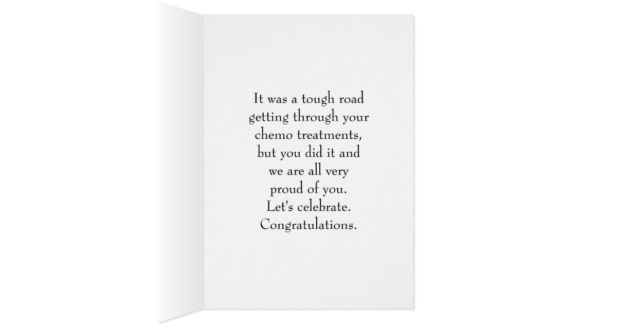 Last Chemo Treatment, Girl Flowers Congratulations Card ...