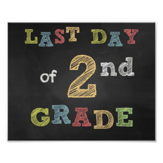 Last day of 2nd Clay sign - Chalkboard