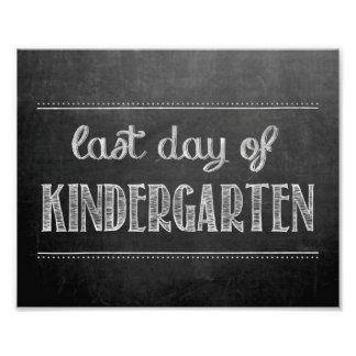 Last Day of Kindergarten Chalkboard Sign Art Photo