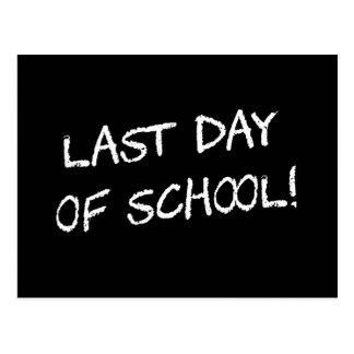 Last Day of School Postcard