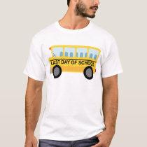 Last Day of School School Bus Gift T-Shirt