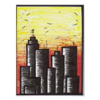 last days of a dying city canvas print