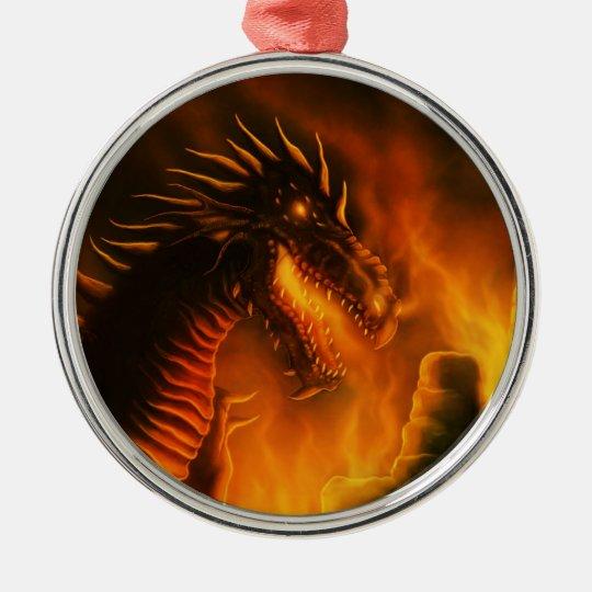 last defense fantasy dragon metal ornament