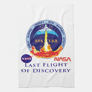 Last Flight of Discovery Hand Towels