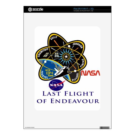Last Flight of Endeavour Decal For The iPad