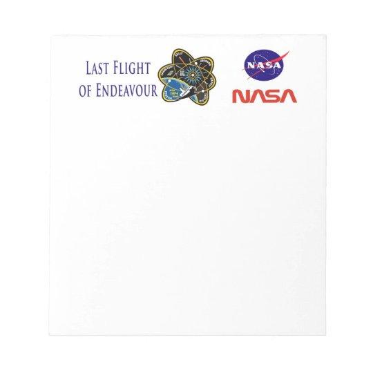 Last Flight of Endeavour Notepad