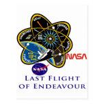 Last Flight of Endeavour Postcard