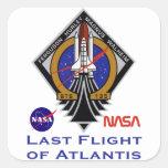 Last Flight Square Sticker
