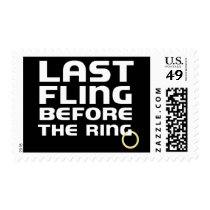Last Fling Bachelor Party Custom Postage Stamps