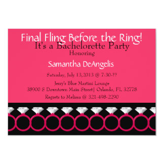 Last Fling Bachelorette Party Invitation