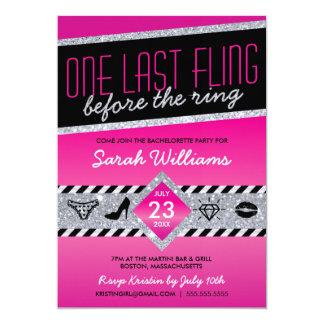 Last Fling Bachelorette Party Invitation (pink)