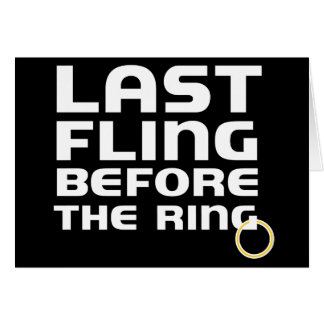 Last Fling Before Ring Bachelor Party Invitation Greeting Cards