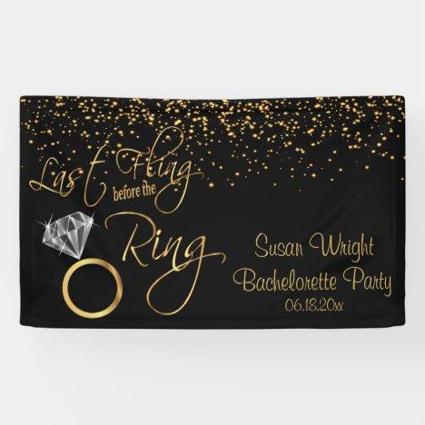 Last Fling Before the Ring Bachelorette - Gold Banner