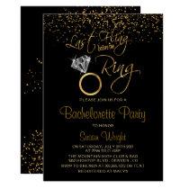 Last Fling Before the Ring Bachelorette - Gold Invitation